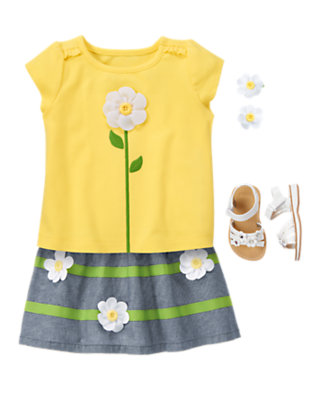 Toddler Girl's Soft Petals Outfit by Gymboree