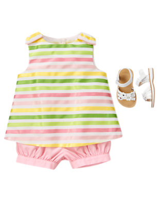 Toddler Girl's Charming In Stripes Outfit by Gymboree