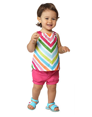 Toddler Girl's Rainbow Sweetie Outfit by Gymboree