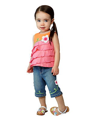 Toddler Girl's Breezy Ruffles Outfit by Gymboree