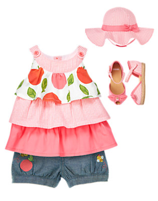 Toddler Girl's Baby Peach Outfit by Gymboree