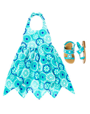 Toddler Girl's Aquamarine Darling Outfit by Gymboree