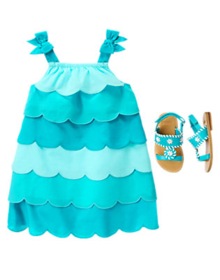 Toddler Girl's Wavy Ocean Outfit by Gymboree