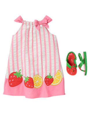 Toddler Girl's Fruity Stripes Outfit by Gymboree