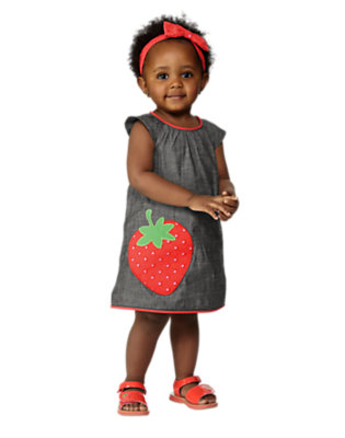 Toddler Girl's Chambray Strawberry Outfit by Gymboree