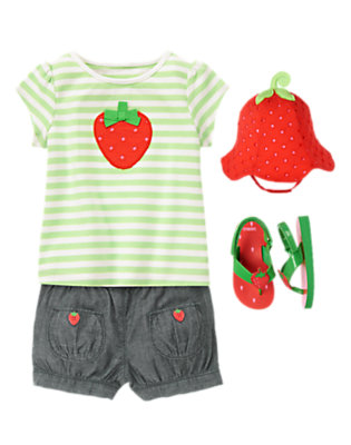 Stripes & Berries Outfit by Gymboree