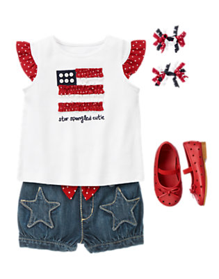 Toddler Girl's Star-Spangled Cutie Outfit by Gymboree