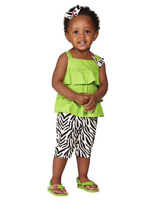 Toddler Girl's Wild For Ruffles Outfit by Gymboree
