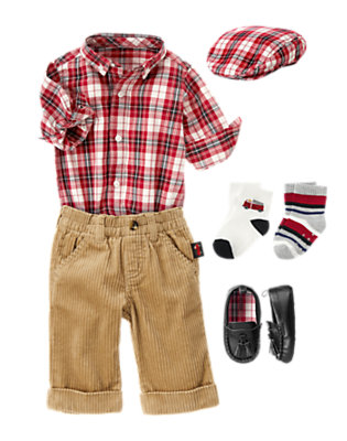 Baby's Plaid Holiday Outfit by Gymboree