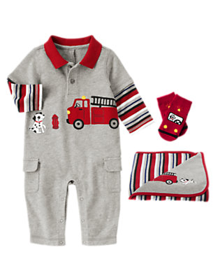Baby's Firetruck Fun Outfit by Gymboree