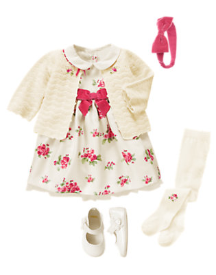 Baby's Floral Holiday Outfit by Gymboree