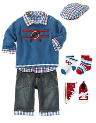 Baby's Just Plane Fun Outfit by Gymboree