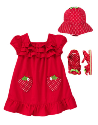 Baby's Little Strawberry Outfit by Gymboree