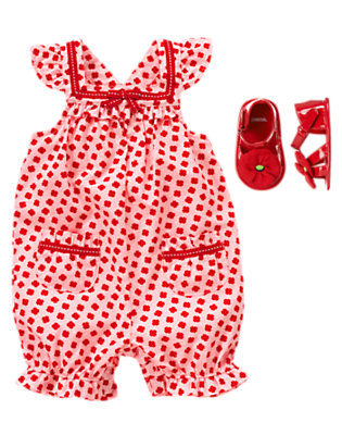 Poppies & Pindots Outfit by Gymboree