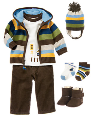 Baby's Cozy Tracks Outfit by Gymboree