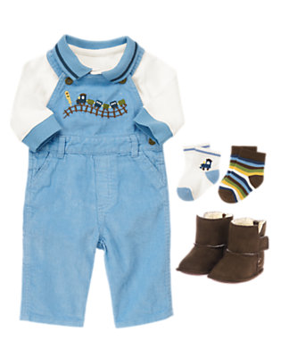 Tiny Train Outfit by Gymboree