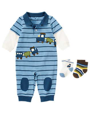 Baby's Sweet In Stripes Outfit by Gymboree