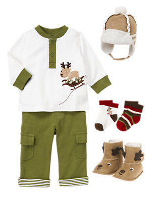 Baby's Snug In Sherpa Outfit by Gymboree