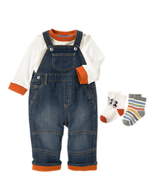 Baby's Cozy Denim Outfit by Gymboree