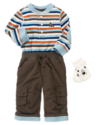 Baby's Cozy Stripes Outfit by Gymboree