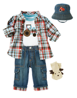 Tractor Ride Outfit by Gymboree