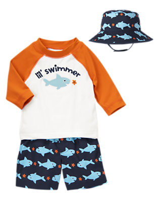 Baby's Lil' Swimmer Outfit by Gymboree