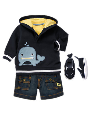 Whaling Good Time Outfit by Gymboree