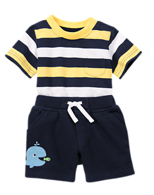 Sailing Stripes Outfit by Gymboree