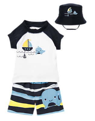 Swimming Whale Outfit by Gymboree