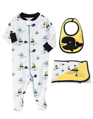 Whale Comfort Outfit by Gymboree