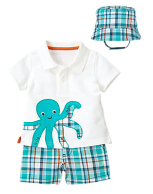 Baby's Octopus In Plaid Outfit by Gymboree