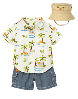 Baby's Palms & Plaid Outfit by Gymboree
