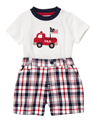 Baby's Red, White & Cute Outfit by Gymboree