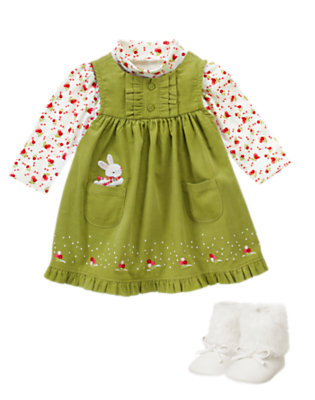 Wintergrass Green Outfit by Gymboree
