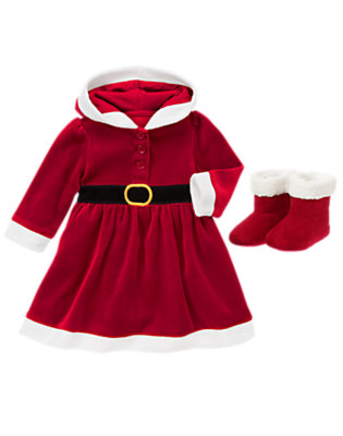 Baby's Baby Girl Santa Outfit by Gymboree