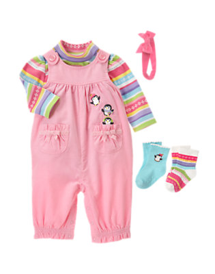 Baby's Pink Penguin Outfit by Gymboree