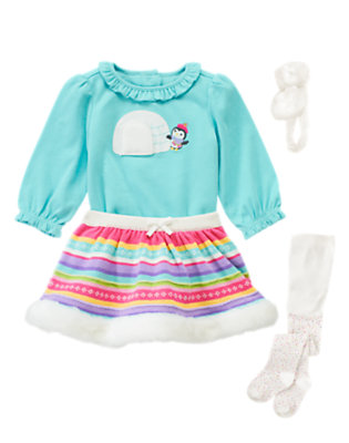 Winter Stripes Outfit by Gymboree