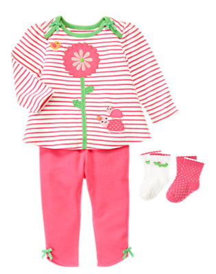 Bright In Stripes Outfit by Gymboree