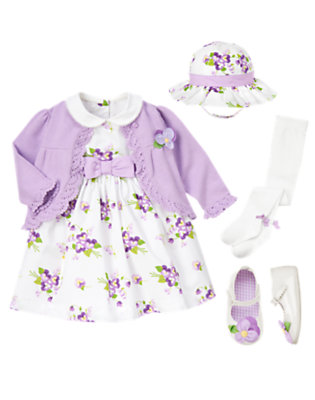 Pansy Petals Outfit by Gymboree