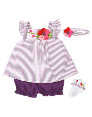 Baby's Sweetly Striped Outfit by Gymboree