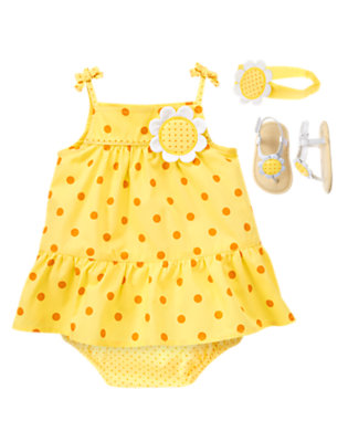 Baby's Dots & Daisies Outfit by Gymboree