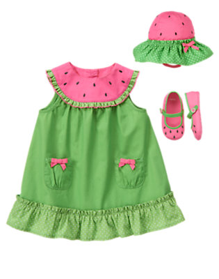 Baby's Twirly Watermelon Outfit by Gymboree