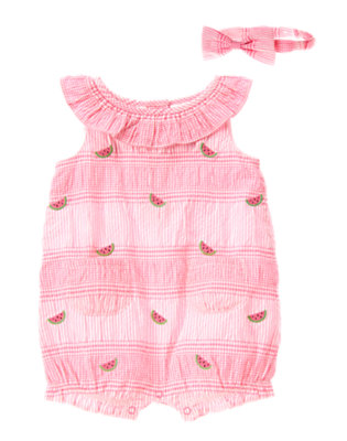 Baby's Seersucker Watermelon Outfit by Gymboree