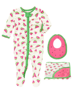 Watermelon Snuggles Outfit by Gymboree