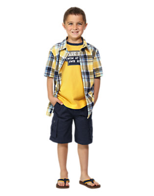 Boy's Surf Plaid Outfit by Gymboree
