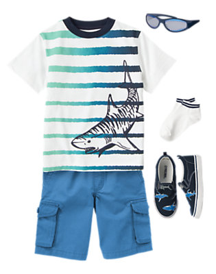 Sea Of Stripes Outfit by Gymboree
