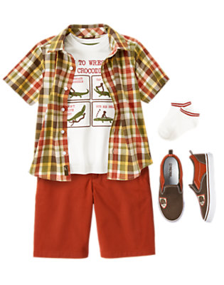 Boy's Crocodile Country Outfit by Gymboree