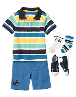 Deep Sea Stripes Outfit by Gymboree