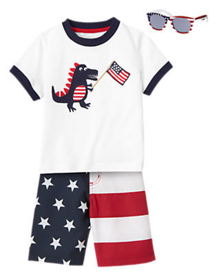 Toddler Boy's July 4th Party Outfit by Gymboree