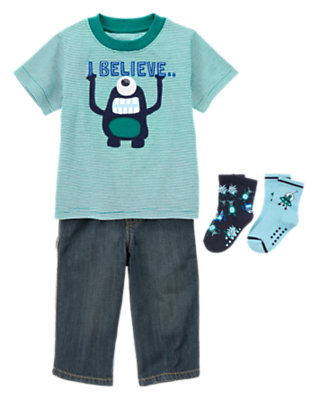 Aliens On Board Outfit by Gymboree